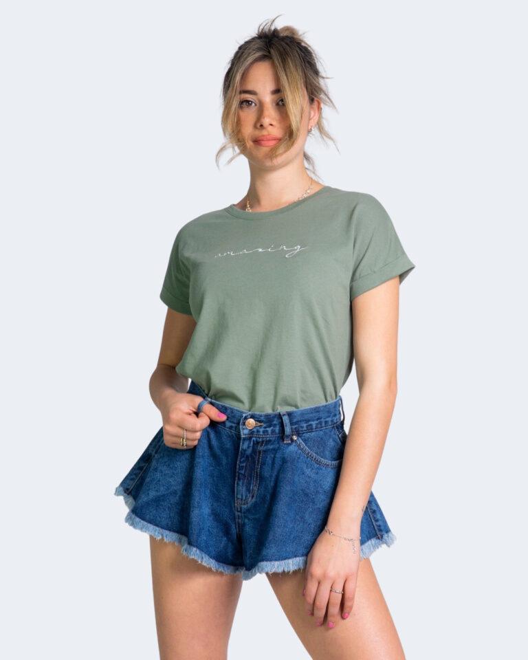 T-shirt Jacqueline de Yong LOUISA Verde Oliva - Foto 1