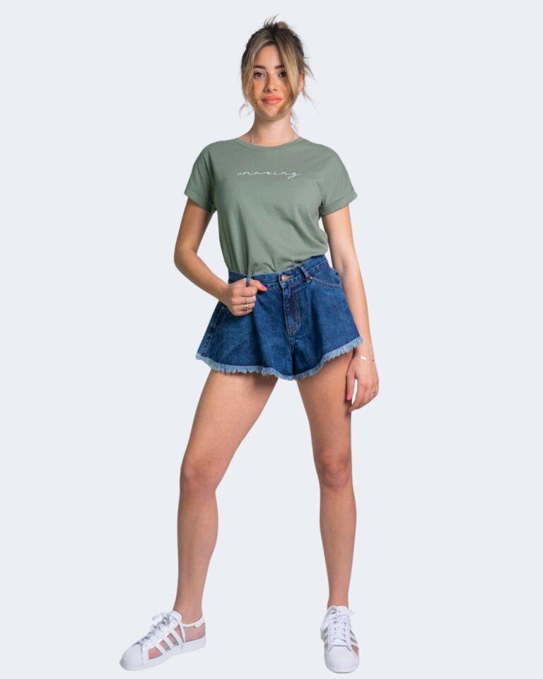 T-shirt Jacqueline de Yong LOUISA Verde Oliva - Foto 2