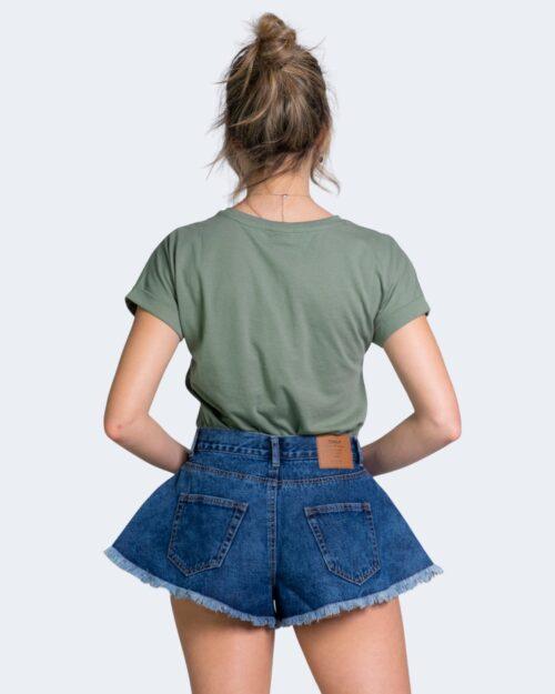 T-shirt Jacqueline de Yong LOUISA Verde Oliva - Foto 3
