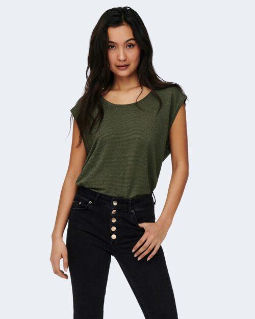 T-shirt Jacqueline de Yong RUNA Verde Oliva - Foto 1