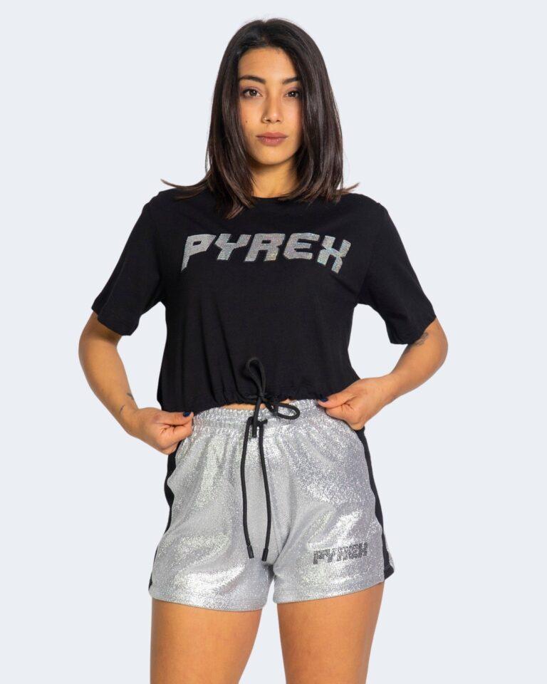 T-shirt Pyrex LOGO SWAROSKI Nero - Foto 1