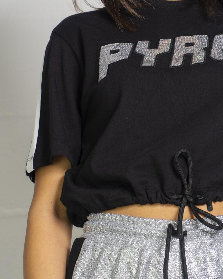 T-shirt Pyrex LOGO SWAROSKI Nero - Foto 4