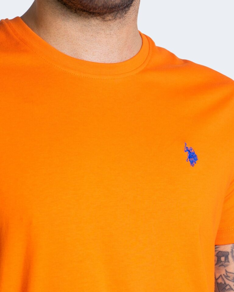 T-shirt U.S. Polo Assn. HORSE LOGO Arancione - Foto 3