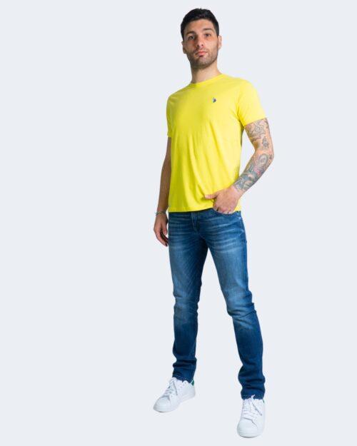 T-shirt U.s. Polo Assn. HORSE LOGO Giallo – 67803