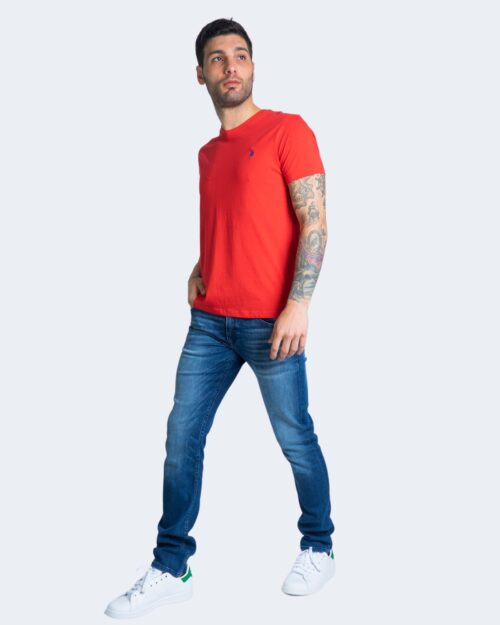 T-shirt U.s. Polo Assn. HORSE LOGO Rosso – 67803