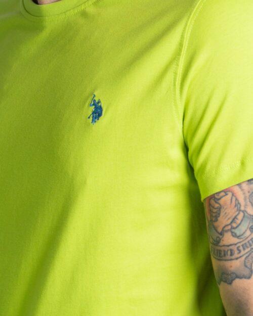 T-shirt U.s. Polo Assn. HORSE LOGO Verde ice – 67803