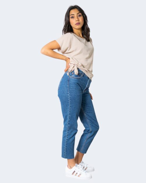 T-shirt Vila Clothes SURASHA S/S TIE TOP/SU Beige – 62975