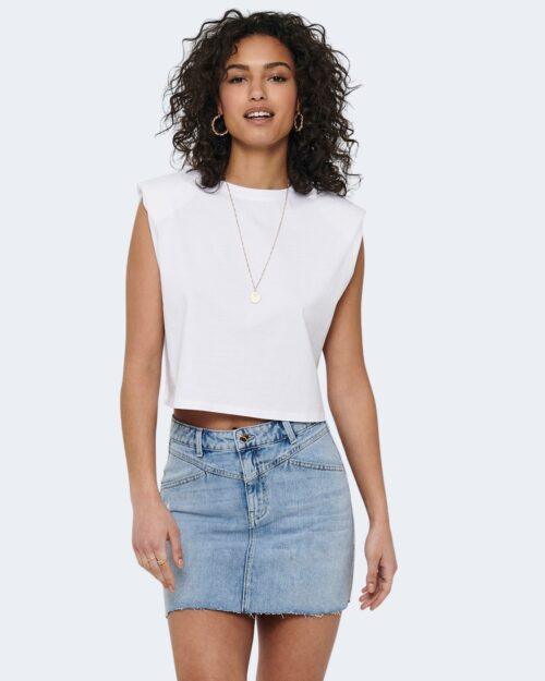 T-shirt Only JEN LIFE S/L SHOULDERPAD TOP JRS - 15227142 Bianco - Foto 1
