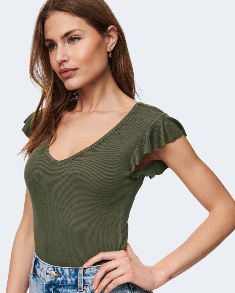 T-shirt Only BELIA Verde Oliva - Foto 3