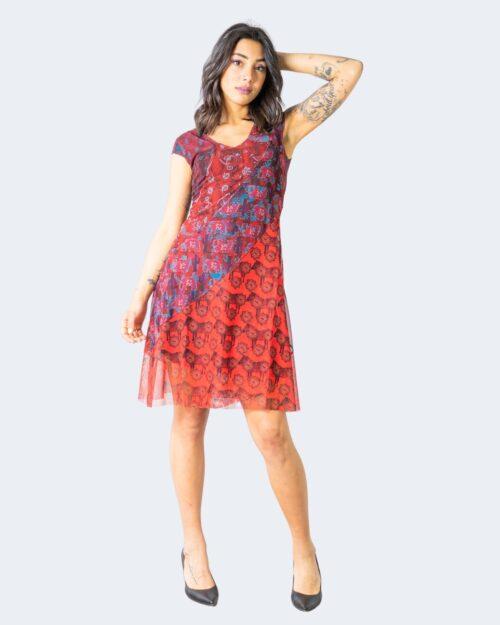 Vestito corto Desigual MERRY Bordeaux – 65381