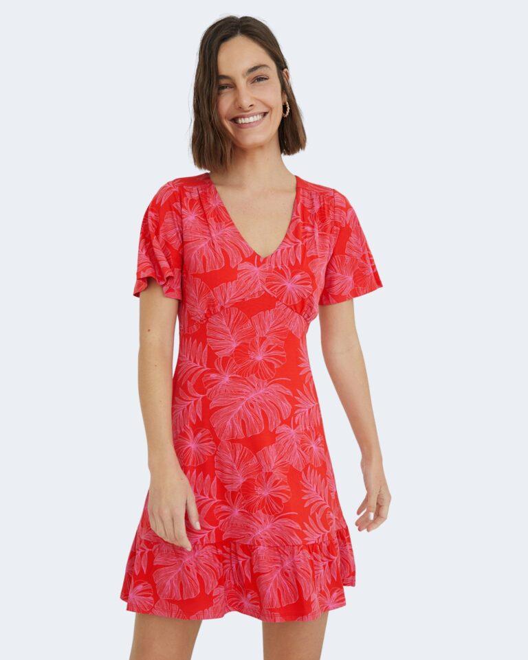 Vestito corto Desigual NADIA Rosso - Foto 1