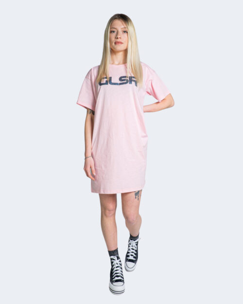 Vestito corto Glsr Tinta Unita Maxi Rosa – 71014