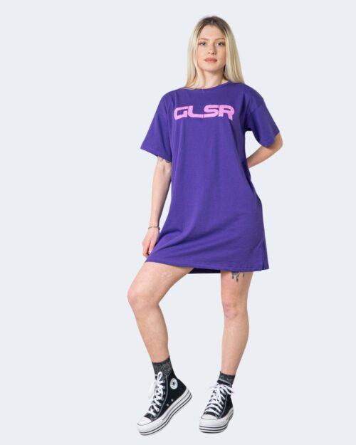 Vestito corto Glsr MAXI T-SHIRT Viola – 53426