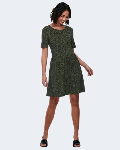 Vestito corto Jacqueline De Yong KIRKBY Verde Oliva – 63245
