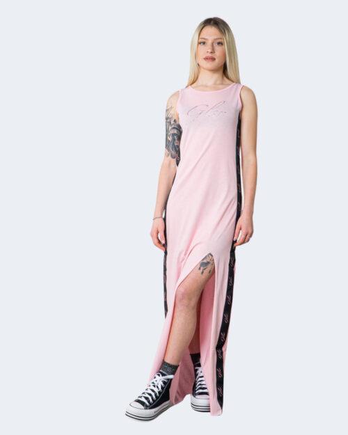 Vestito lungo Glsr Banda Logo Laterale Rosa – 71016