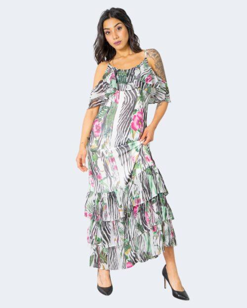 Vestito lungo Guess AGATHE DRESS Bianco – 64162