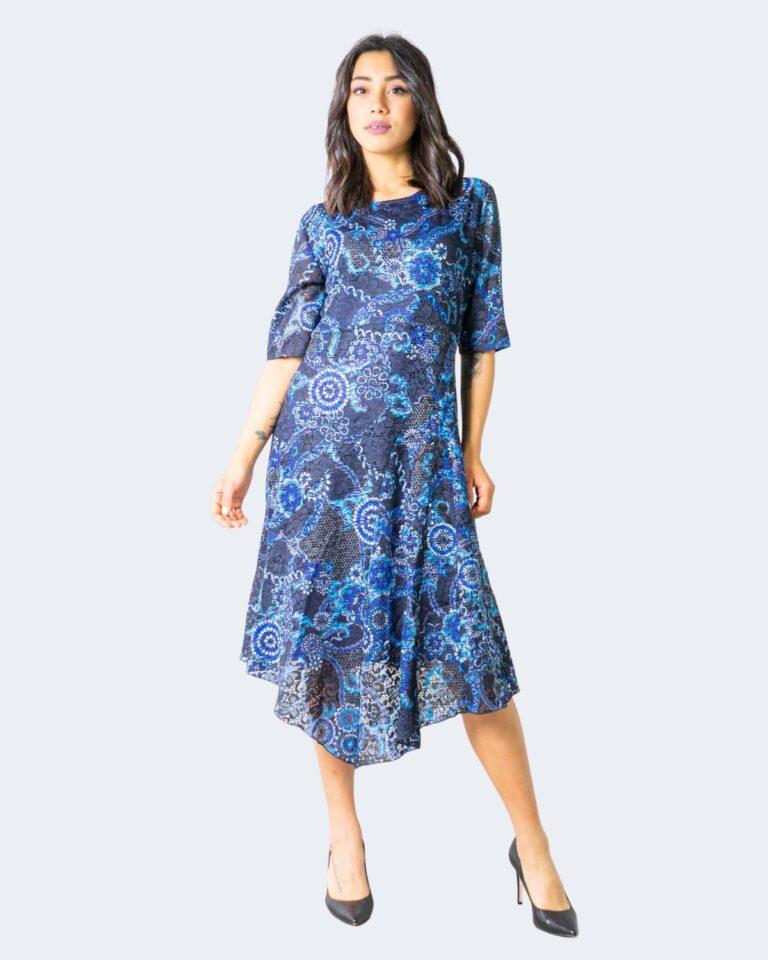 Vestito midi Desigual Vest Samanta Blue scuro - Foto 1