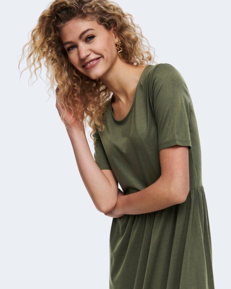 Vestito midi Jacqueline de Yong DALILA FROSTY Verde Oliva - Foto 4