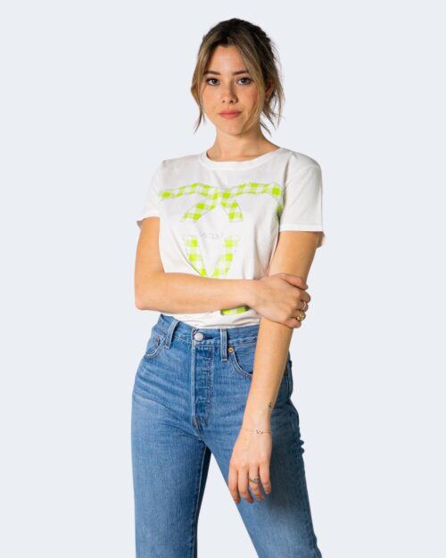 T-shirt Vicolo CUORE QUADRETTATO Bianco – 70841