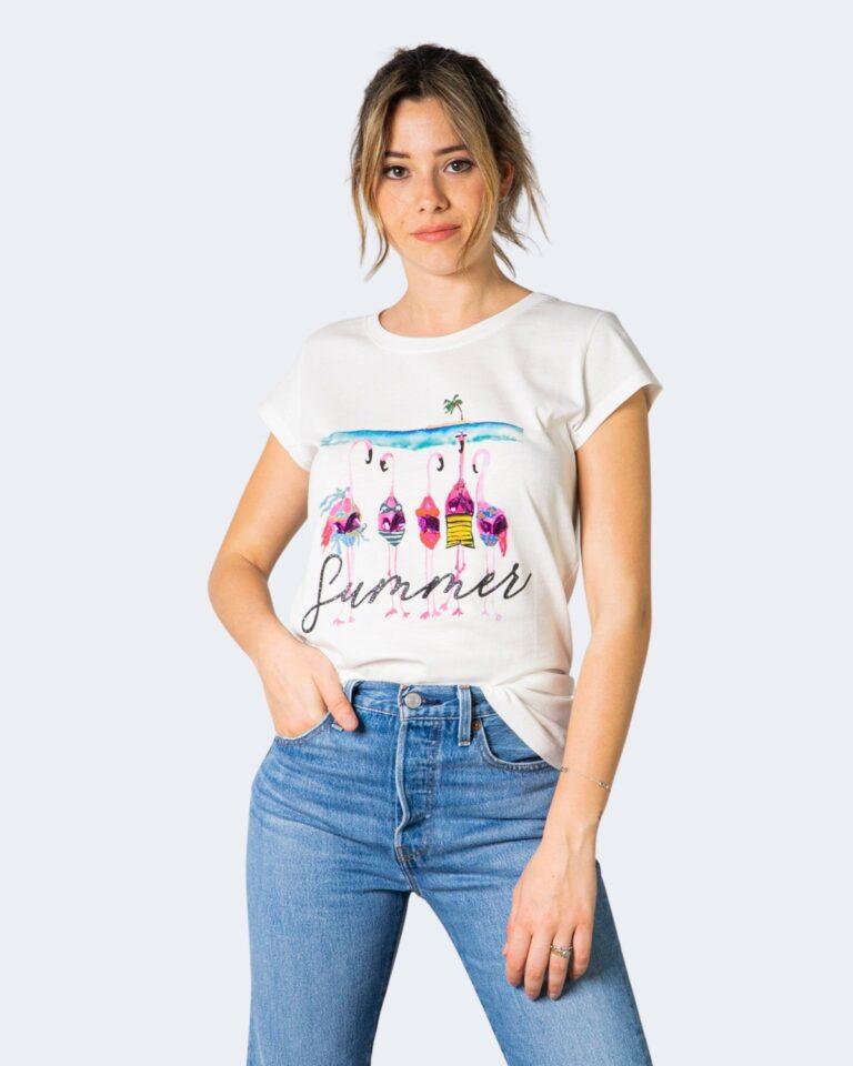 T-shirt Vicolo FENICOTTERI Bianco - Foto 1