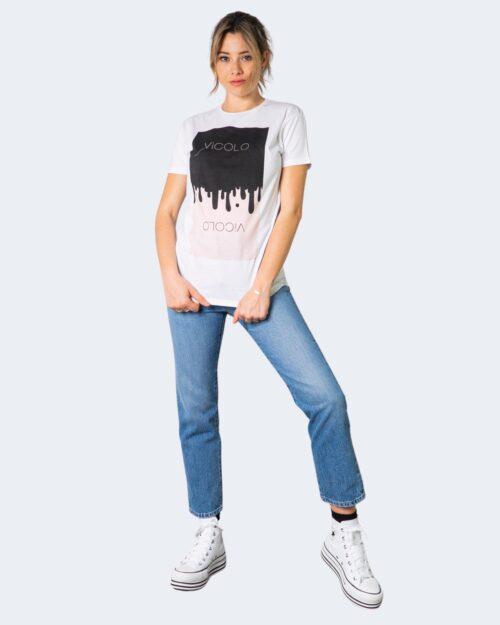 T-shirt Vicolo LOGO CON COLATA Bianco – 70847