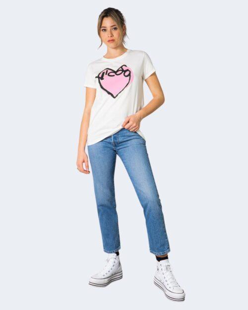 T-shirt Vicolo LOGO CON CUORE Bianco – 70844