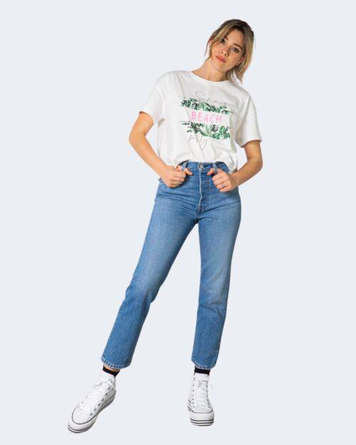T-shirt Vicolo SUMMER BEACH Bianco – 70851