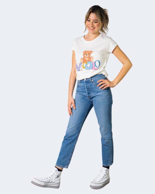T-shirt Vicolo TEDDY CON LOGO Bianco – 70843