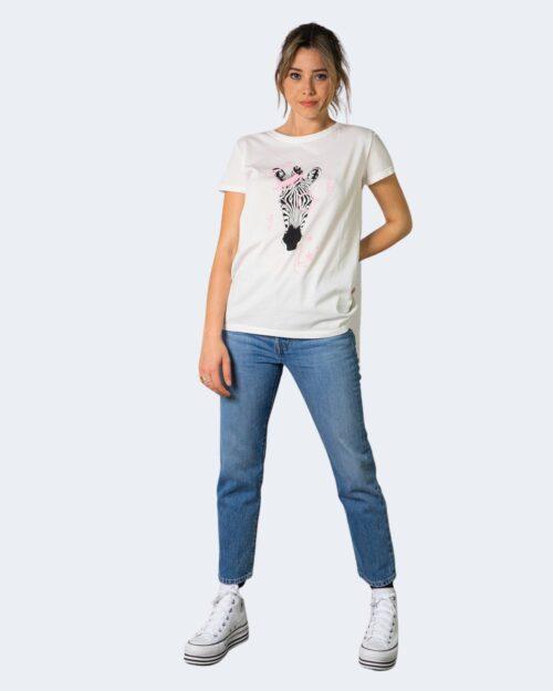 T-shirt Vicolo ZEBRA CON CAPPELLO Bianco – 70848