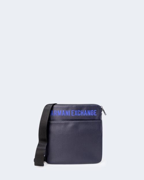 Borsa Armani Exchange FLAT CROSS BODY Blu – 71519