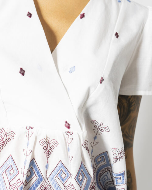 Blusa manica corta Sandro Ferrone ETNICO Bianco – 71702