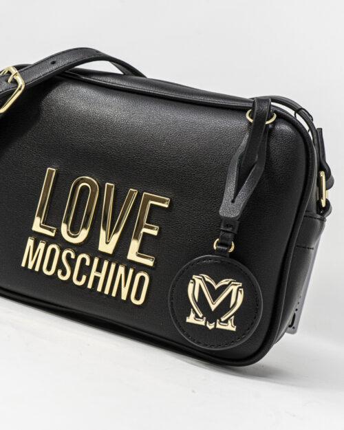 Borsa Love Moschino Camera bag Gold Metal Logo Nero – 72394