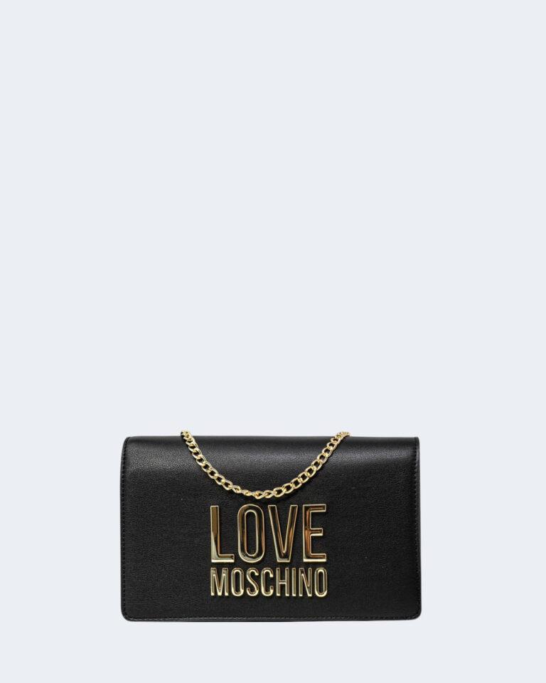 Borsa Love Moschino Gold Metal Logo Nero - Foto 1