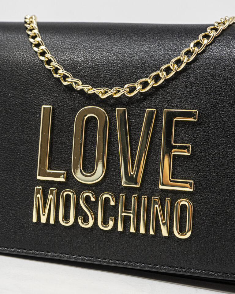Borsa Love Moschino Gold Metal Logo Nero - Foto 2