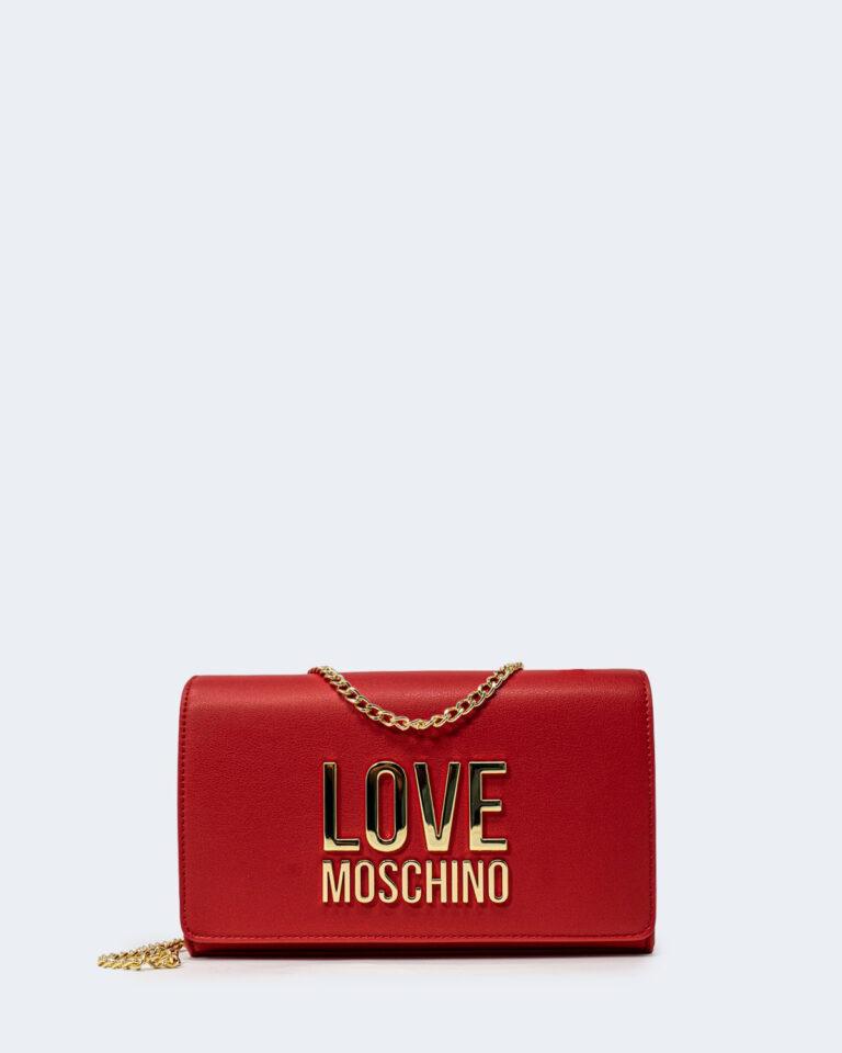 Borsa Love Moschino Gold Metal Logo Rosso - Foto 1
