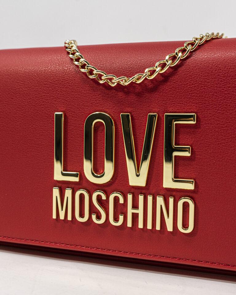 Borsa Love Moschino Gold Metal Logo Rosso - Foto 2