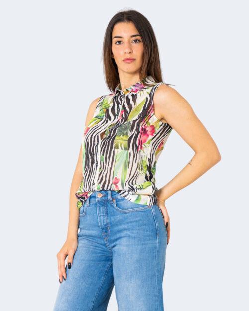 Camicia manica corta Guess TROPICAL SPLIT COMBO Panna – 71508