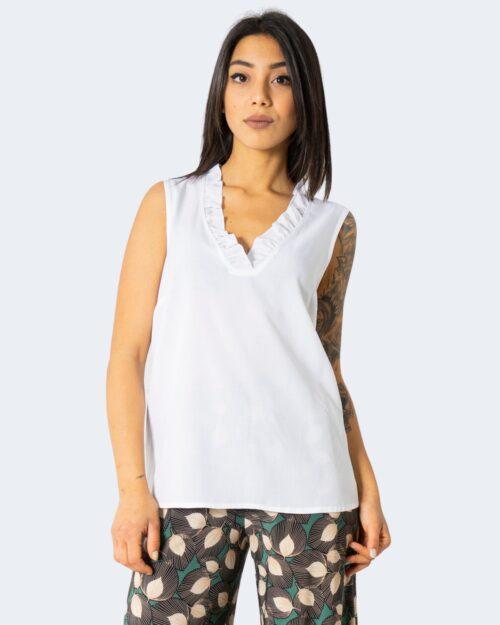 Camicia manica corta Sandro Ferrone VISCOSA Bianco – 71703