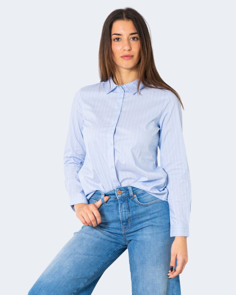 Camicia manica lunga Jacqueline de Yong MIO Celeste - Foto 1