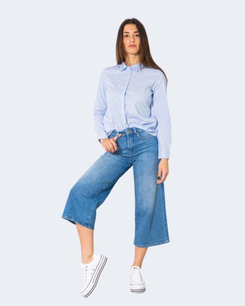 Camicia manica lunga Jacqueline De Yong MIO Celeste – 21314