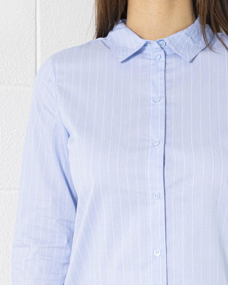 Camicia manica lunga Jacqueline de Yong MIO Celeste - Foto 3