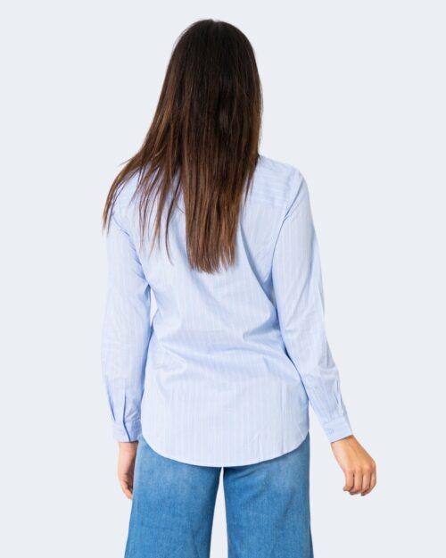 Camicia manica lunga Jacqueline de Yong MIO Celeste - Foto 4
