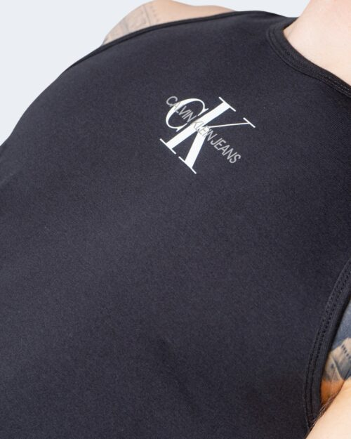 Canotta Calvin Klein Jeans CENTER CHEST Nero - Foto 4