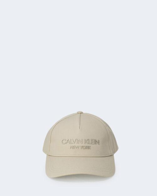 Cappello con visiera Calvin Klein BB Panna – 64743