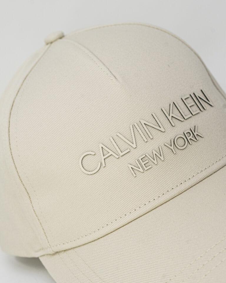 Cappello con visiera Calvin Klein BB Panna - Foto 4
