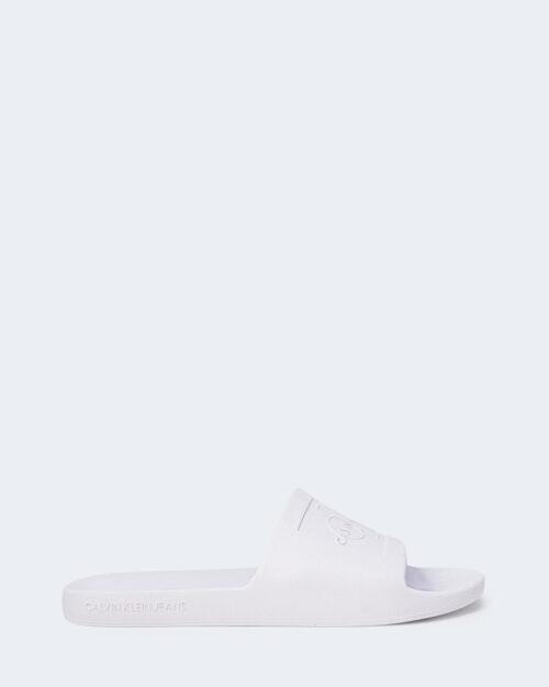 Ciabatte con fascia Calvin Klein Jeans SLIDE MONOGRAM DEBOS YW0YW00102 Bianco - Foto 1