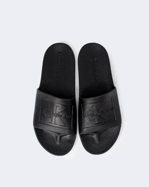 Ciabatte con fascia Calvin Klein Jeans SLIDE MONOGRAM DEBOS YW0YW00102 Nero - Foto 2