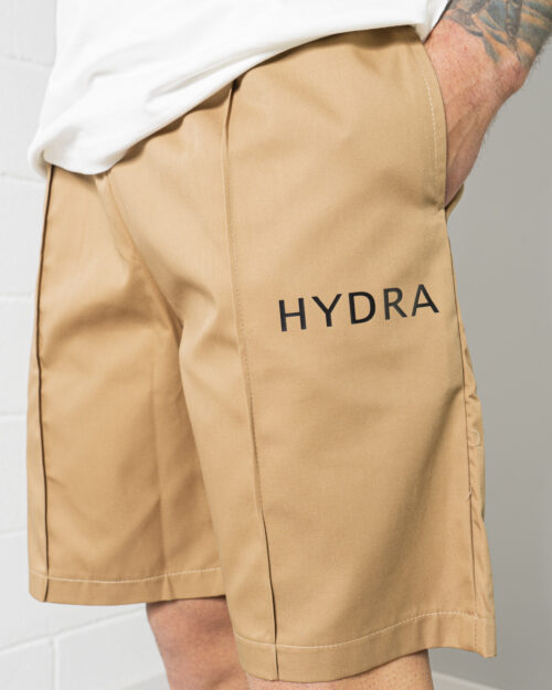 Completo corto tuta Hydra Clothing LOGO LATO CUORE Beige scuro - Foto 3