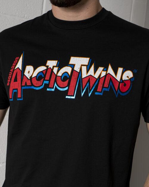 T-shirt Dsquared2 ARCTICTWINS Nero - Foto 3