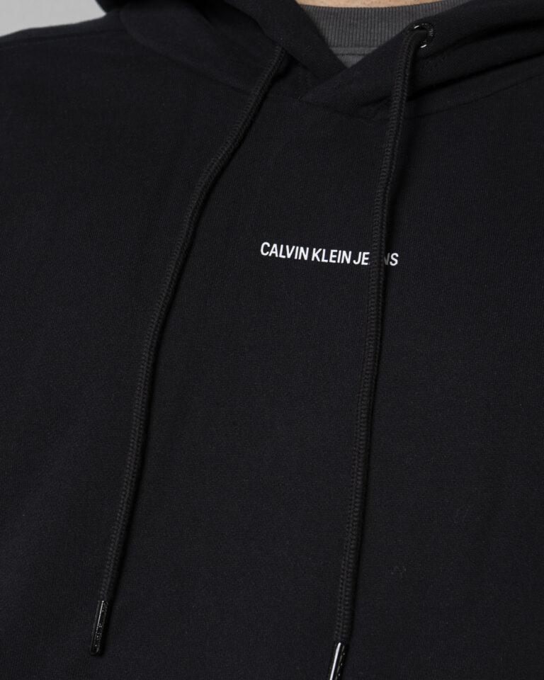 Felpa con cappuccio Calvin Klein Jeans MICRO BRANDING Nero - Foto 3